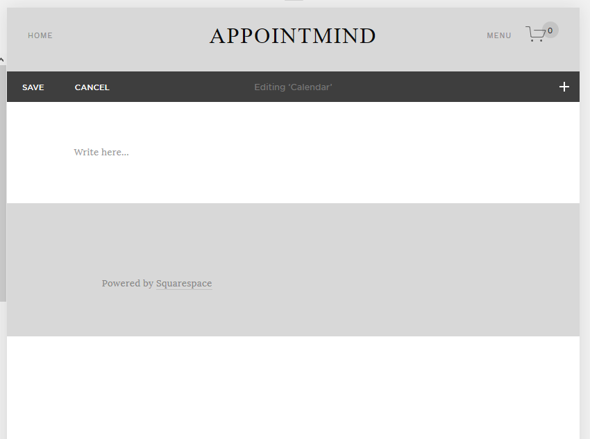 Embed in Squarespace - Online Appointment Scheduler