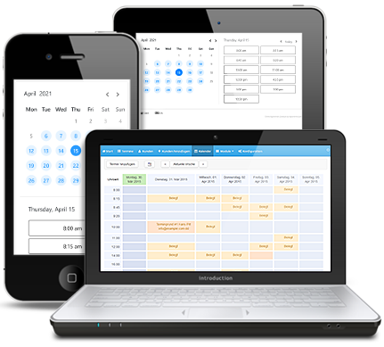 Online Appointment Scheduling on different devices